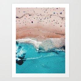 Beach Day (Beach Please Poster No Text) Art Print