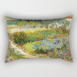 Vincent van Gogh - Garden at Arles Rectangular Pillow