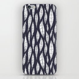 Quail Feathers (Midnight) iPhone Skin