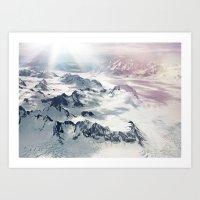 Yukon Glacier Art Print