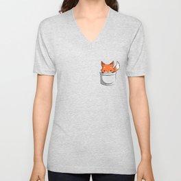 Pocket Fox Unisex V-Neck