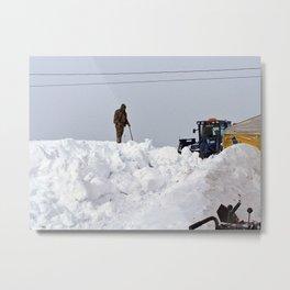 Coastal Snowbank Metal Print