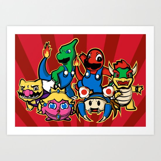 Mariomon Art Print