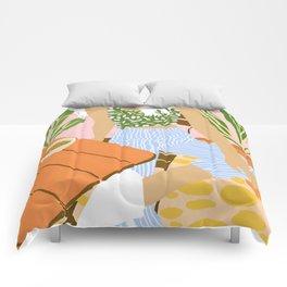 Kawa Tea #illustration #fashion Comforters