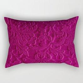 satiny flower in fushia Rectangular Pillow