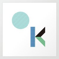 kim sy ok Art Prints featuring OK by .....