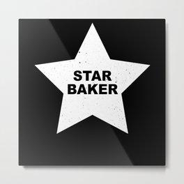 Star Baker Gift Chefs Baking Lovers Metal Print