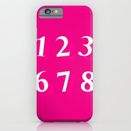 NUMBERS (TEACHERS STYLE) iPhone Case