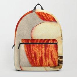 Vintage Illustration of a Sliced Apple Backpack