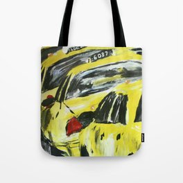 New York Taxis Fine Art Acrylic Painting Tote Bag