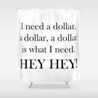 lyrics Shower Curtains featuring I Need a Dollar Lyrics by Irmak Nur Sunal