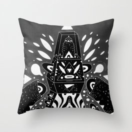 techno ghost Throw Pillow