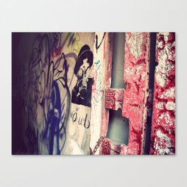 Graffitied Gateway Canvas Print