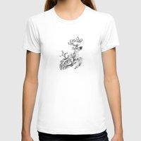 clockwork T-shirts featuring clockwork deer by vasodelirium