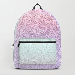 Colorful Purple, Pink and Green Watercolor Trendy Glitter Mermaid Pastel Iridescent Backpack