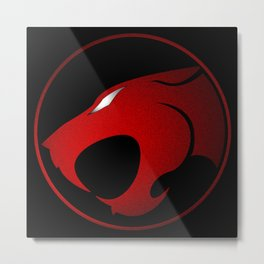 ThunderCats Symbol Red and Black Metal Print