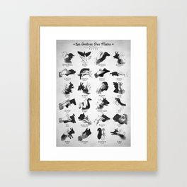 Hand Shadows Framed Art Print