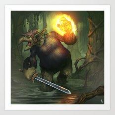 Troll Shadow Knight Art Print