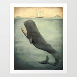 Leviathan Below Art Print
