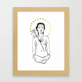 Rhythm Zero - Marina Abramovic Framed Art Print