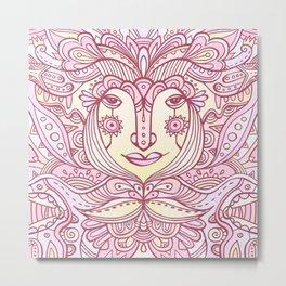 Flower fairy / Pink pastel Metal Print