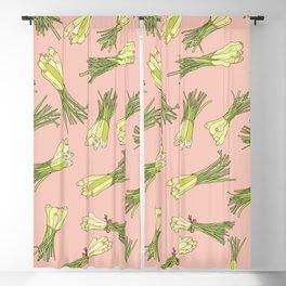 Lemongrass in Pink Blackout Curtain