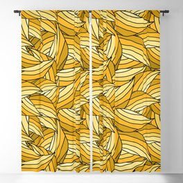 PRIMROSE YELLOW LEAVES B (abstract flowers nature) Blackout Curtain
