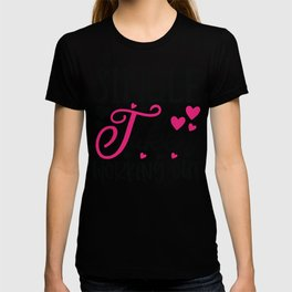 Single Taken Working Out - Funny Love humor - Cute typography - Lovely and romantic quotes illustration T-shirt