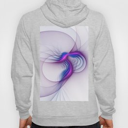 From Magenta to Blue, Abstract Fractal Art Hoody