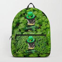 St. Patricks Day Dog Backpack
