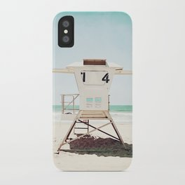 Lifeguard Stand, Beach Photography, San Diego California iPhone Case