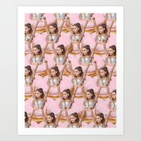ariana grande Art Prints featuring Grande Donuts by vllancourt