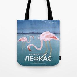 Lefkada, Flamingos at the lagoon (GR) Tote Bag