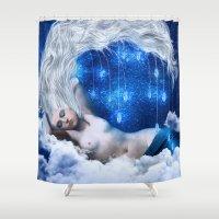 lunar Shower Curtains featuring Lunar Incantation by Diogo Verissimo