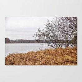 Peaceful lake view in November Canvas Print