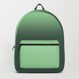 Neo-Mint Green Gradient Ombré Abstract Backpack