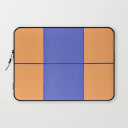 August - Orange and Blue Laptop Sleeve