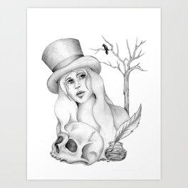 Mrs. Edgar Allan Poe Art Print