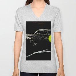 Jaguar sl yellow Unisex V-Neck
