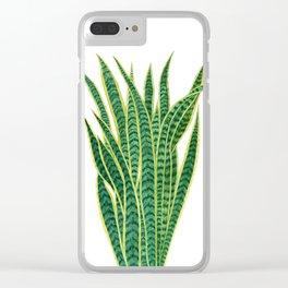 Sansevieria Clear iPhone Case
