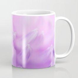 Pearl Petal Kiss   pink flower, pastel flowers, purple floral pattern, cute dahlia petals, macro Coffee Mug