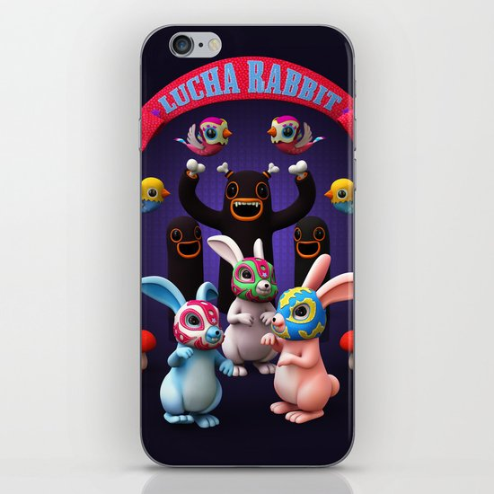 Lucha Rabbit iPhone & iPod Skin