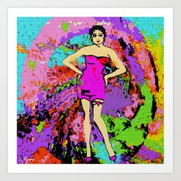 WOMAN EMPOWERED:  I TWIRL ON MY HATERS Art Print