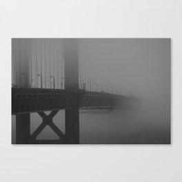 Golden Foggy Gate Bridge Canvas Print