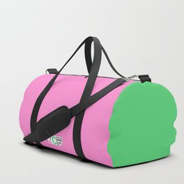 2C - pink and green Duffle Bag
