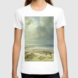 'The Last Days of Summer' coastal landscape painting by Christian Ernst Bernhard Morgenstern T-shirt