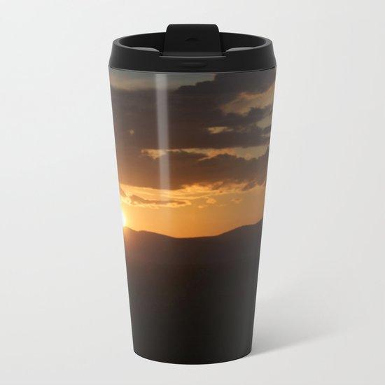 Smith Rock Sunrise Metal Travel Mug