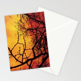 Branches in the Fire Stationery Cards