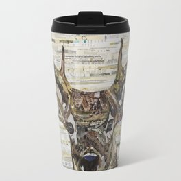 Whitetail Deer Buck Collage by C.E. White Travel Mug