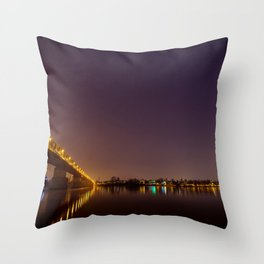 Stars above the Danube Throw Pillow